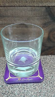 Crown Royal 3D Glass With Light Up Coaster Limited Edition