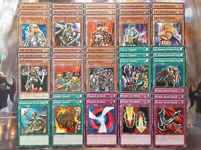 Yugioh Tournament Ready To Play Warrior Toolbox 40 Card Deck Budget Complete NM