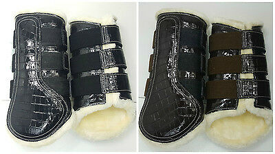 Pair Of Croc Dressage/brushing Boots Fleece Linned Small To Full Available