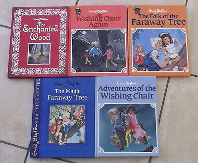 Enid Blyton: 5 large HC Wishing Chair Faraway Tree Enchanted Wood