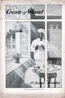 "1907 Cream of Wheat ad (Rastus) ""A Dainty Breakfast ""--=59"