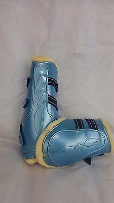 Set Of Four Tendon/jumping Horse Riding Boots Teal/blue