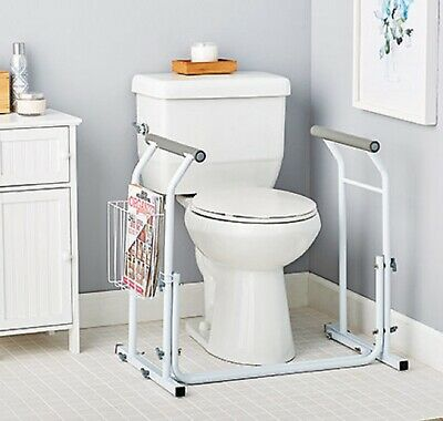 Toilet Safety Support Bar Rail Bathroom Seat Frame Medical Handicap OPEN BOX!