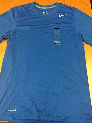 Men's Nike Dri-Fit Short Sleeve Shirt Royal Blue LARGE NWT
