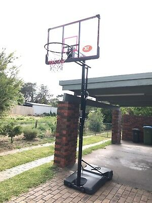 Portable Basketball Hoop Stand Outdoor 48 inch Backboard  Height Ring 2.7-3.05m