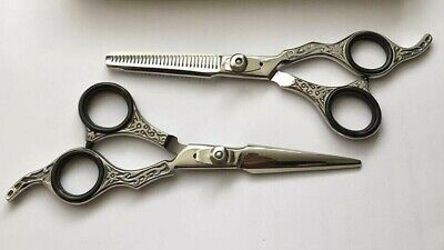 Professional Barber Salon Hairdressing Scissors Hair Cutting Shears 6'' Silver