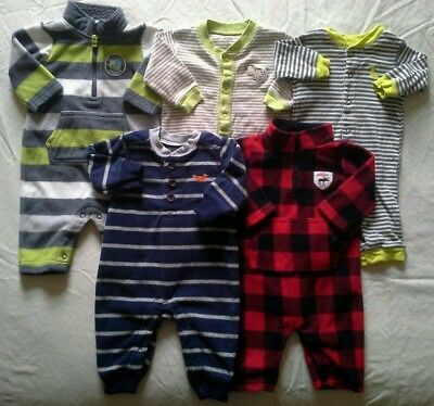 Boys 3 months Fall Winter clothes Carter's Rompers Outfits Clothing Lot!