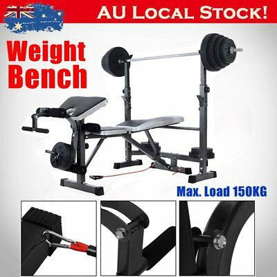 Mliti-Station Weight Ajustable Bench Press Home Gym Exercise Fitness Equipment W