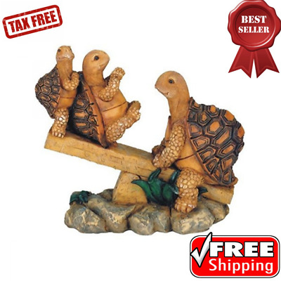 """Turtles On Seesaw Figurine Statue Home & Garden Decor Collectible 6.5x7.5"""""""