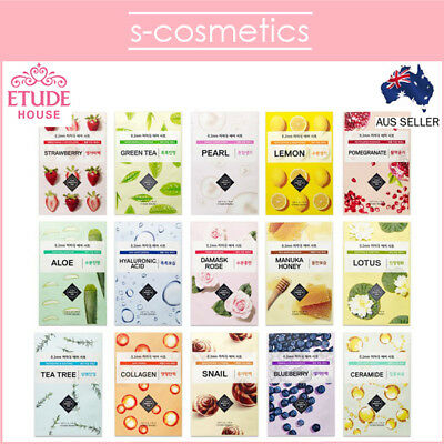 [ETUDE HOUSE] 0.2 Therapy Air Mask (1, 3 or 5 sheets) 15 Types Choose Your Own