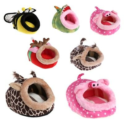 S/L Small Animal Hamster Bed Hammock Rat Hedgehog Squirrel Cage House Nest Pad