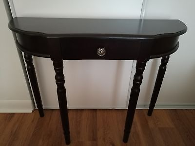 Elegant half moon hallway table with drawer