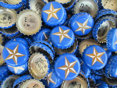 100 ((( Blue Lone Star ))) Beer Bottle Caps (No Dents). Free Shipping