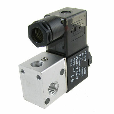 3V1-06 DC 24V 4.8W 120mA 2 Position 3 Way Pneumatic Solenoid Valve