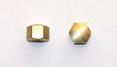 Domed cap nuts M10 , M12 Brass , Low Form , DIN 917 , Cap nut