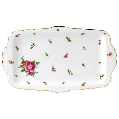 NEW Royal Albert New Country Roses White Sandwich Tray