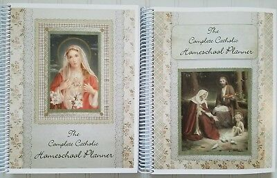 NEW The Complete Catholic Homeschool Planner ~ Immaculate Heart or Holy Family