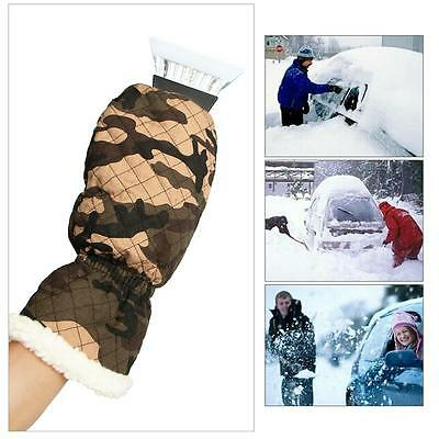 Ice Scraper Mitt For Car Windshield Snow Scrapers With Waterproof Glove Lined