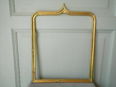 VINTAGE french gilded brass  PLAQUE PEDIMENT
