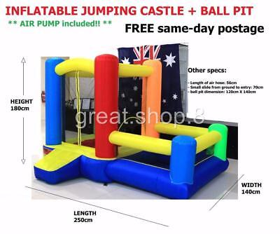INFLATABLE Jumping Castle, Ball Pool + Basketball Hoop - 3 in 1 = PLAY CENTRE