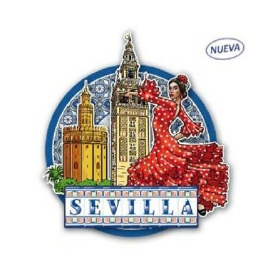 FRIDGE MAGNET Seville SOUVENIR travel monument la giralda spain Flamenco dancer