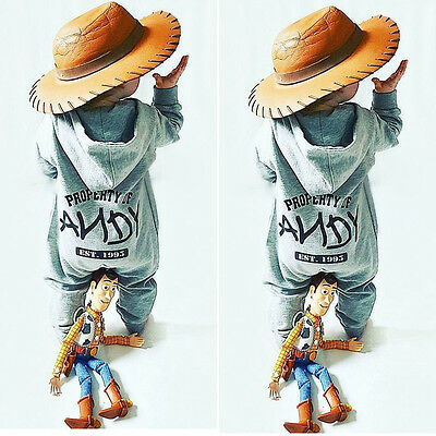 AU Newborn Infant Baby Boy Girl Hooded Romper Jumpsuit Bodysuit Outfits Clothes