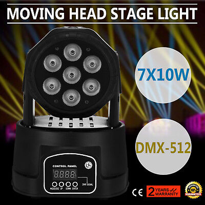70W Moving Head Lichteffekte RGBW Bühnenbeleuchtung DMX Wash 4in1 7LED