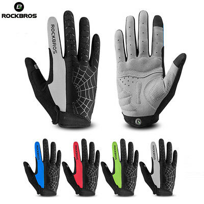 RockBros Full Finger Cycling Gloves MTB Windproof Warm Touchscreen Spider Gloves