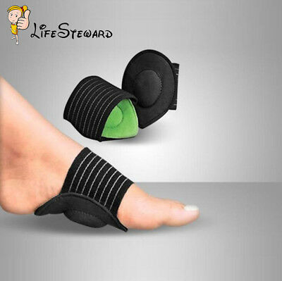 1 Pair Strutz Cushioned Arch Foot Support Decrease Plantar Fasciitis Pain Hot
