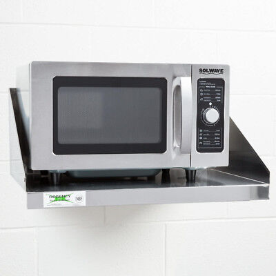 Solwave 1000W Stainless Steel 120V Commercial Microwave Oven with Dial Control