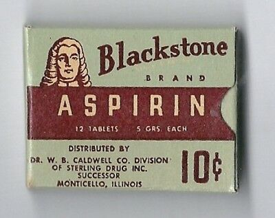 Blackstone Aspirin Box - Full 10 Cents-12 Tablets