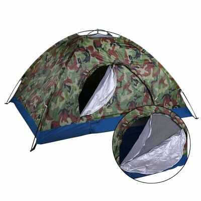 2 Person Folding Camping Tent  Waterproof Easy Access Outdoor Festival Hiking UK