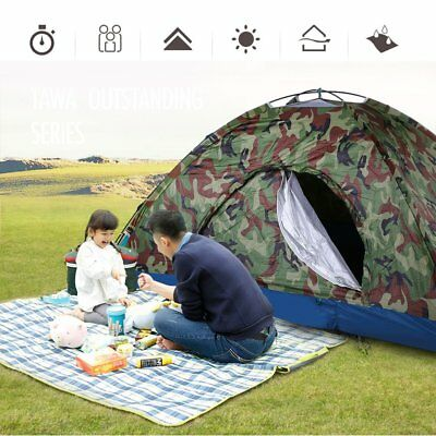 New Outdoor Camping Waterproof 2-3 Person Folding Tent Camouflage Hiking Travel