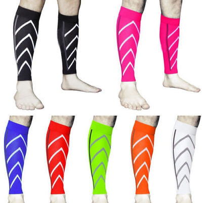Pair Calf Support Graduated Compression Leg Sleeve Sport Sock Outdoor Exercise P
