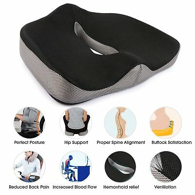 Memory Foam Seat/Chair Cushion Orthopedic Coccyx Support Pillow Cooling Gel
