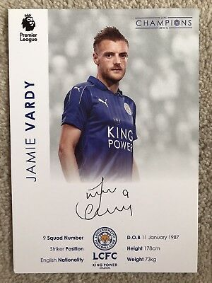Jamie Vardy Signed Photo - Leicester City - Pre-Printed