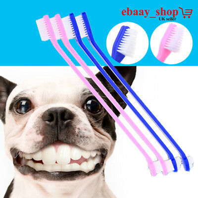 Dog Puppy Toothbrush For Dental Care Brush Double Ended Large & Small Brush Head