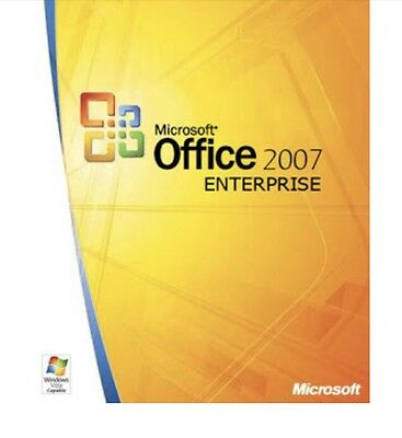 Office 2007 Enterprise, Full Version |LIFETIME LICENCE | Email Delivery, 3 PC