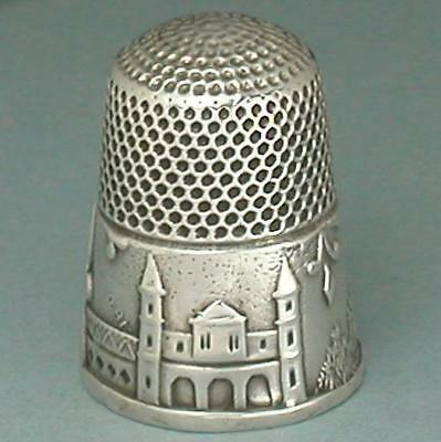 Antique Sterling Silver Mediterranean Pavilions Thimble by KMD * Circa 1880s