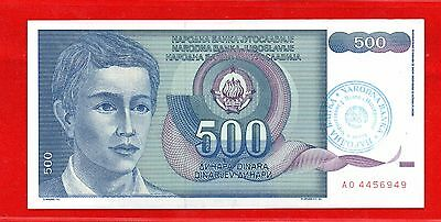 Overprint Specimen Banknote For 500 Dinars For Bosnia And Hercegovina From 1990