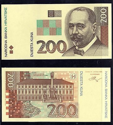 Printers Proof Specimens 200 Kuna For Croatian Banknote From 31.october 1993