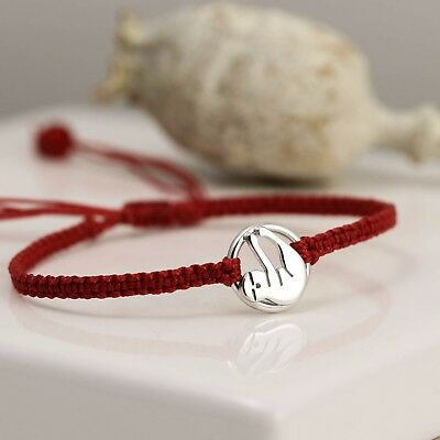 Handmade Sterling Silver Sloth Friendship Bracelet