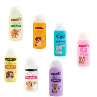 Ancol Dog Puppy Shampoo Conditioner 200ml BB Lavender Tea Tree Tropical tropical