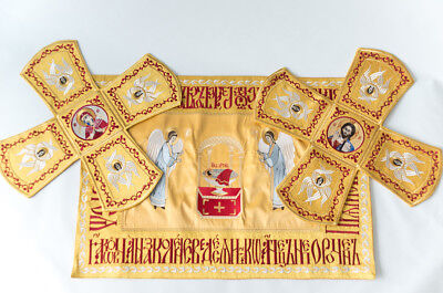 Chalice Covers  veils  Embroidered Gold color, with the icon of Holy Lamb
