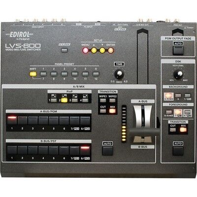 Roland LVS-800 Professional 8 Channel Video Mixer with DSK, NTSC or PAL Video