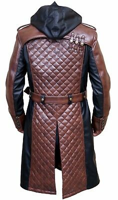 Jacob Frye Assassin's Creed Syndicate Real Leather Trench Coat Costume