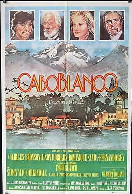 733 CABOBLANCO Argentinean movie poster '80 Charles Bronson, Jason Robards,