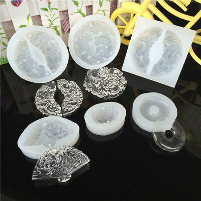 Silicone Resin Jewelry Pendant Making Mould Necklace Casting Craft Mold DIY Tool