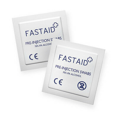 50 x FastAid 70% IPA Alcohol Wipes Pre-Injection Swabs NHS GRADE Pads Tattoo