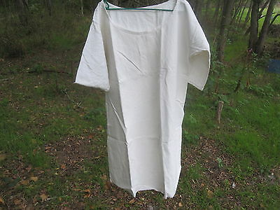 Antique French Linen /Coton Metis Chemise Ecru Tunic or Night Gown